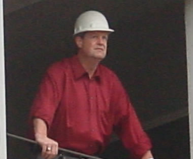 Tom Appel, Lead Project Manager, at Construciton Site.